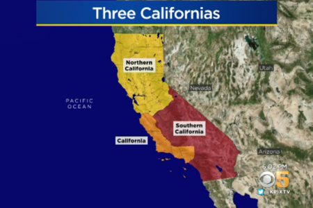 Voters could decide whether to split California into three smaller states