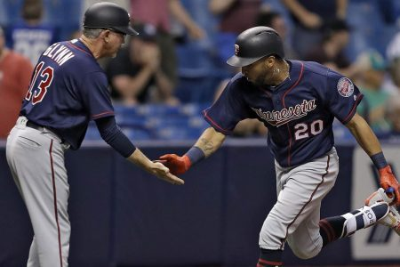 WATCH: Twins' Eddie Rosario hits a game-tying grand slam