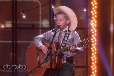 The Walmart Yodeling Kid Performed on Ellen and Melted Hearts All Over Again