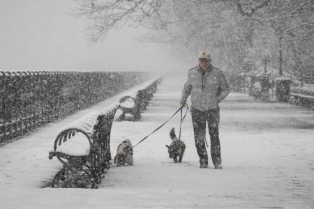 Spring storm hits Northeast, bringing NYC the most April snow in over 30 years