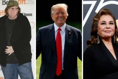 Michael Moore says he's working on 'secret project' involving Trump, Roseanne Barr