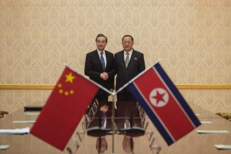 Chinese foreign minister praises North Korea during rare Pyongyang trip