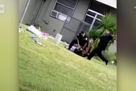 Miami police officer is seen on video kicking a man in the head during an arrest