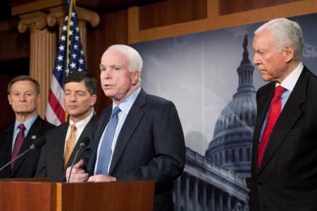 Republican senator apologizes for comments about John McCain