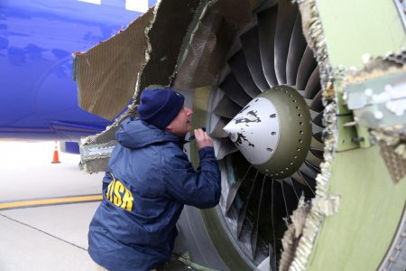 After fatal accident, Southwest Airlines inspects 35000 engine fan blades and finds no flaws