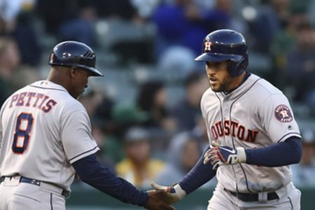 Springer goes 6 for 6, ties Astros mark in 16-2 rout of A's