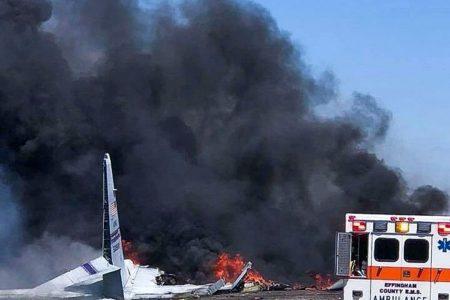 Puerto Rico Air National Guard plane crashes on its final flight, killing nine on board