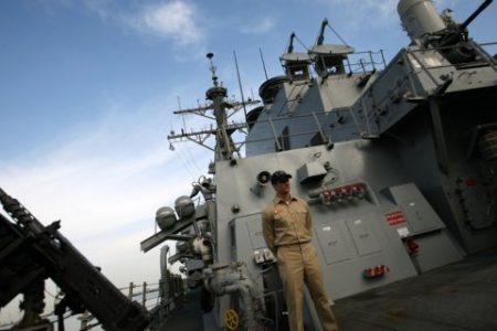 China's navy 'warned off' US warships that sailed through disputed South China Sea