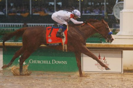 Derby winner Justify's former trainer will try to beat him in Preakness Stakes with Quip