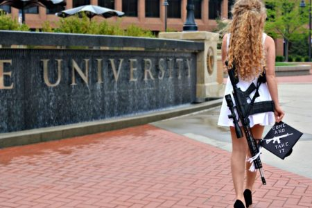 Kent State graduate celebrates by strolling campus with her AR-10