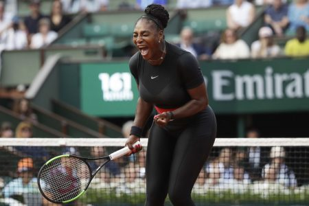 Serena Williams wins at French Open, with nods to motherhood, royalty and Wakanda