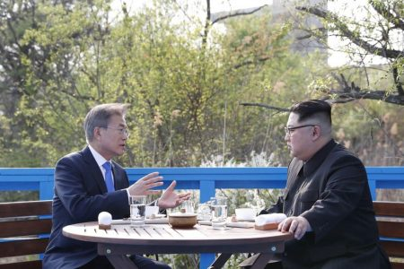 What did the Korean leaders talk about on those park benches? Trump, mainly.