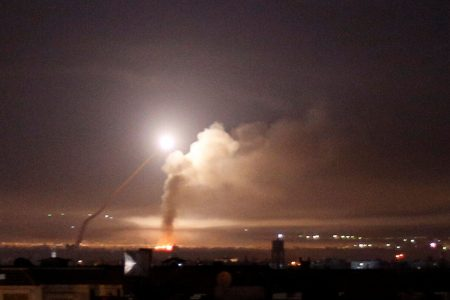 Israel launches massive military strike against Iranian targets in Syria