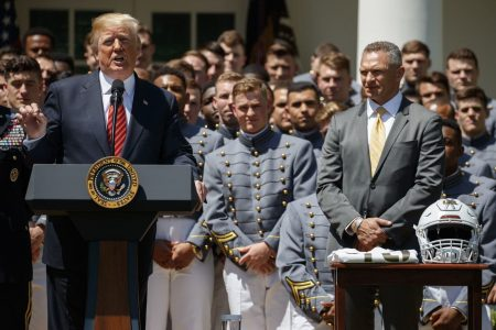 Trump raises the specter of a Space Force as he congratulates Army's football team