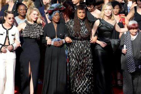 One of the 82 women in Cannes protest says root problem is false view that men are 'best'