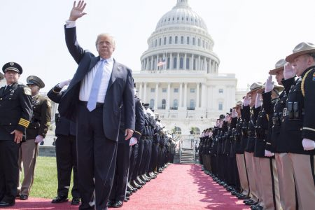 At National Peace Officers' memorial service, Trump calls for death penalty for cop killers