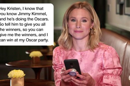 Celebrities read funny texts from their moms on Jimmy Kimmel Live