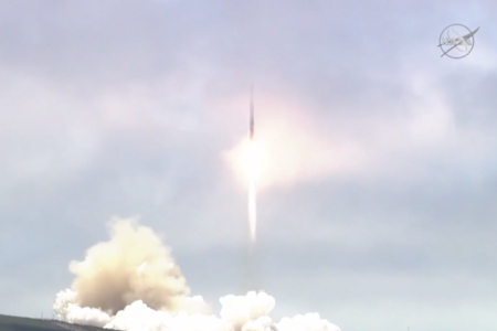 SpaceX Falcon 9 launching seven satellites