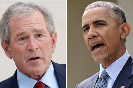 Obama, Bush to give eulogies at McCain's eventual funeral: report