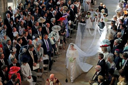 The adorable kids, including George and Charlotte, who walked with Meghan Markle down the aisle