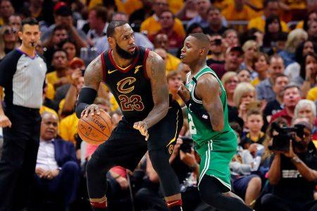 On time, on target: LeBron, Cavs pound Celtics in Game 3