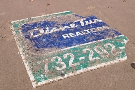 Sign Washed Away in Hurricane Sandy Lands on Beach in France