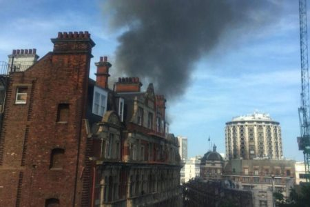 Fire breaks out at Mandarin Oriental hotel in central London