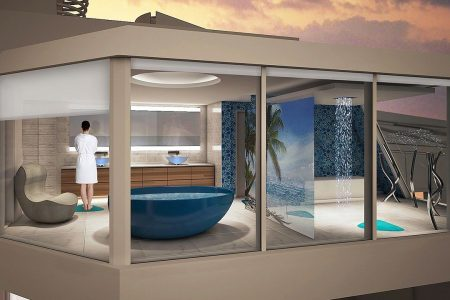 Royal Caribbean cruise ship will have bathroom suspended over the ocean