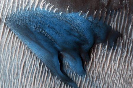 NASA unveils stunning 'blue dune' image seen on Mars