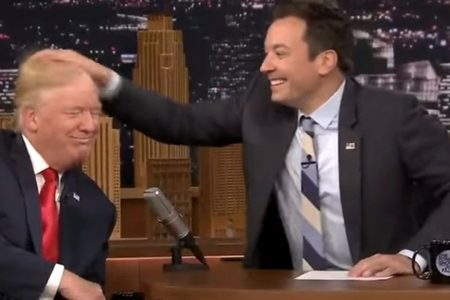 Trump tells 'whimpering' Jimmy Fallon to 'be a man' over 'Tonight Show' hair-mussing episode
