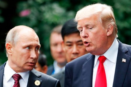 Putin says he speaks regularly to Trump, isn't trying to divide Europe