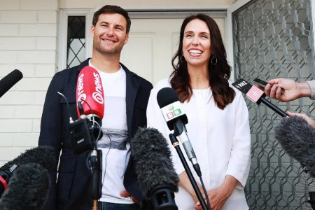 New Zealand's Prime Minister arrives at hospital to give birth. She's the first pregnant world leader since 1990