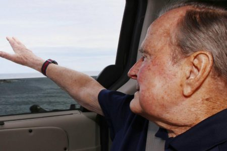 George HW Bush discharged from hospital after being treated for low blood pressure
