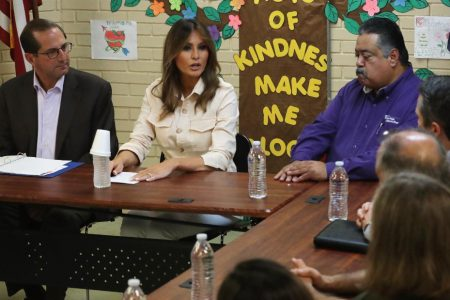 Melania Trump makes surprise visit to border facility