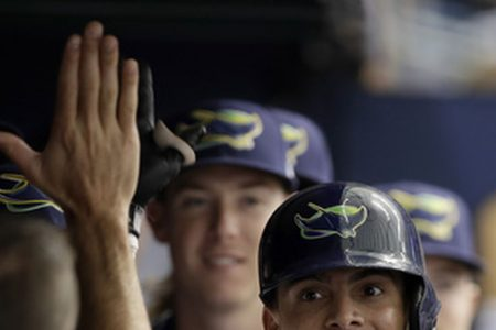 Font gets 1st win, Adames homers, Rays beat Yankees 4-0