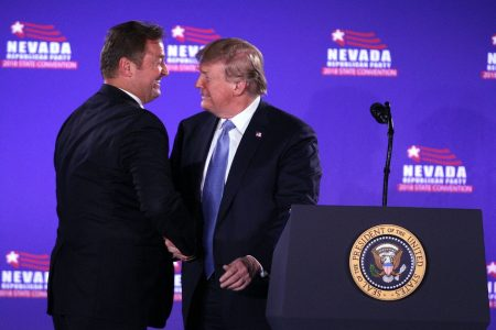 Trump, stumping in Nevada, makes immigration a central midterms issue for GOP