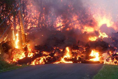 Workers bulldoze emergency escape route through Hawaii lava field as flows threaten roads
