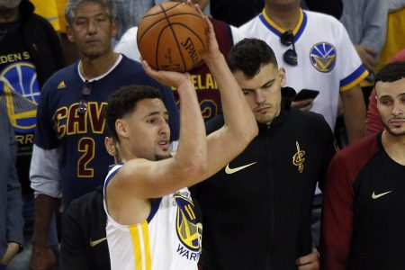 Klay Thompson: Replay of JR Smith collision 'pissed me off'
