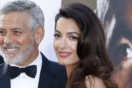 Amal Clooney gives romantic toast to teary George, says she thought she'd be a 'spinster' at 35