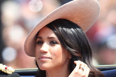 Duchess Meghan looks posh in pink for Trooping the Colour event with the Queen, Prince Harry