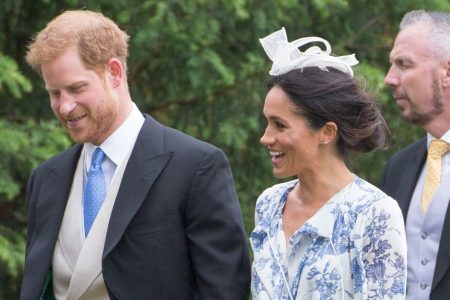 Duchess Meghan is mocked for wearing baggy dress to family wedding