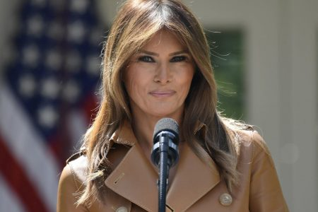 'She wouldn't miss this for anything': Melania Trump holds first White House event after 24-day absence