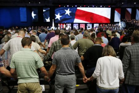 Southern Baptists debate handling of a #MeToo case and hear a controversial speech from Pence