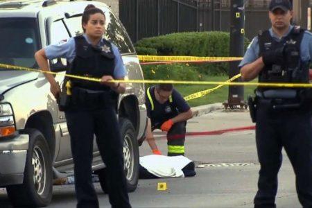 Gunshot victim covered with sheet starts breathing again