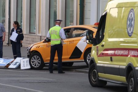 Moscow taxi crashes into crowd during World Cup in Russia