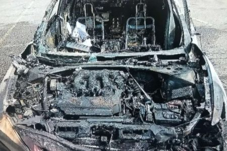 Woman says cellphone burst into flames, destroyed car while she was driving