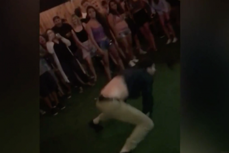 Dancing FBI agent booked into jail over back flip gunfire