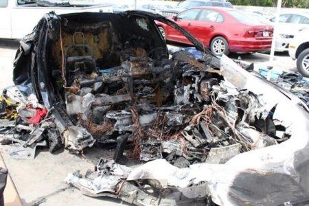 Firefighters Struggled to Extinguish Tesla Model S Car Battery after Florida Crash That Killed Teens