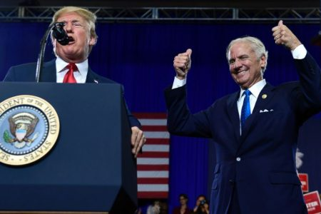 Trump stumps for South Carolina governor — but mostly for himself