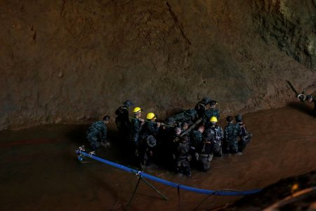 Thailand Cave Rescuers Report Some Progress in Search for Soccer Team